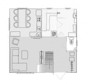 spithami puhkemaja saunaga suur saunamaja teine korrus