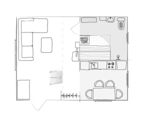 Väike maja 1. korrus
